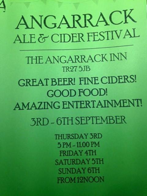 Beer Festival - Thursday September 3rd to Sunday September 6th   Angarrack Inn